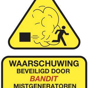 waarschuwingssticker mistbeveiliging